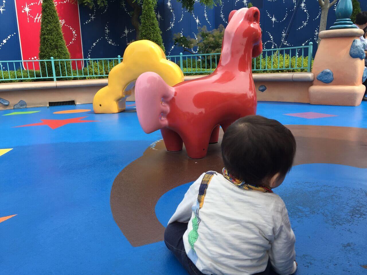 次男(10ヶ月)も、トゥーンパークを満喫