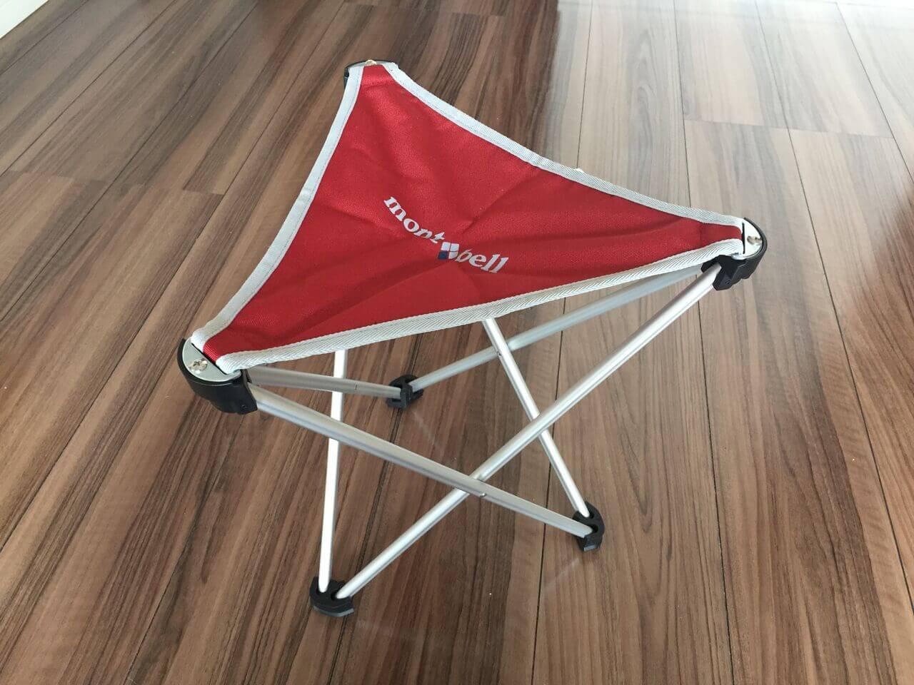 携帯できる椅子(開いたバージョン)
